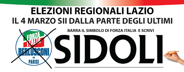 Elezioni regionali Lazio 2018 - vota Rinaldo Sidoli